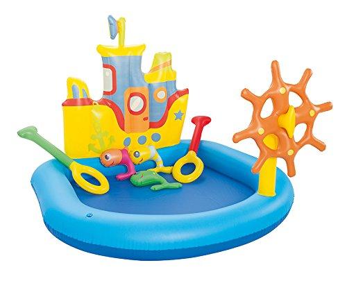 piscina de juegos hinchable barco