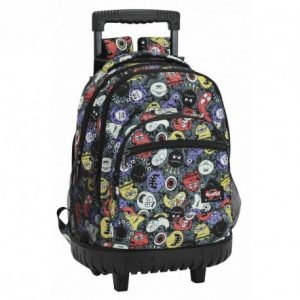 Mochila escolar con ruedas Safta Blackfit8