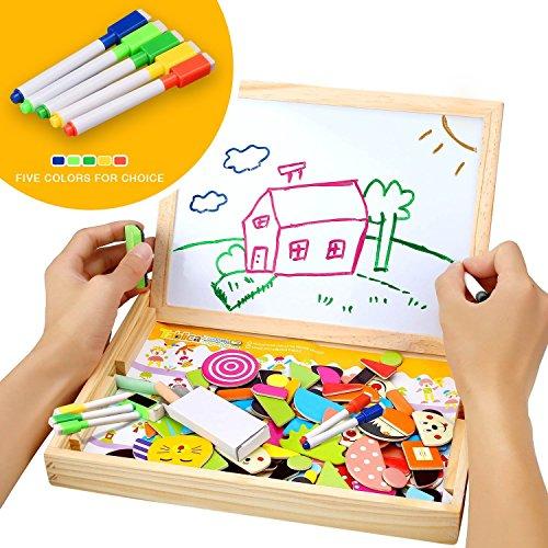 Juego educativo magnéticos de madera infantil con pizarras