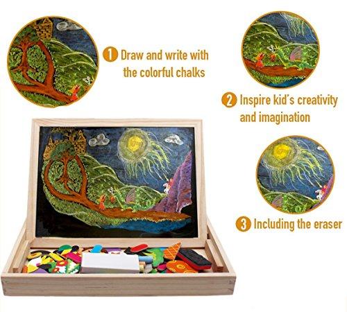 Puzzles magnéticos de madera infantil con pizarras