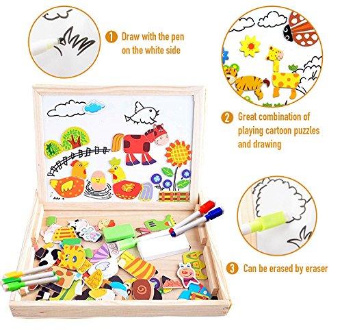 Puzzles magnéticos de madera infantil
