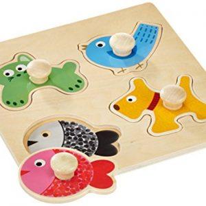 Puzzle madera animales domésticos