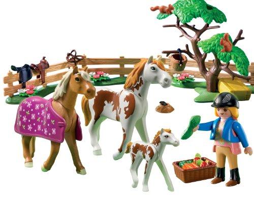Playmobil cuidadora de caballos para niños y niñas