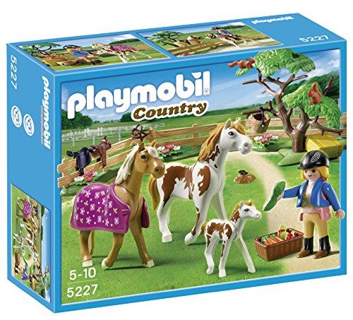 Playmobil cuidadora de caballos